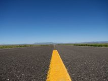 Empty road close up Stock Images