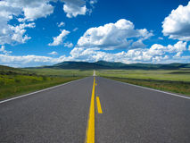 Empty Road in Colorado Stock Images