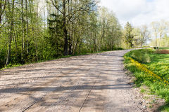 Empty road in the countryside Stock Photography