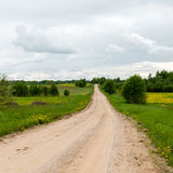 Empty road in the countryside Royalty Free Stock Images