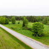 Empty road in the countryside Royalty Free Stock Photo