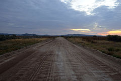 Empty road at dawn Royalty Free Stock Photography