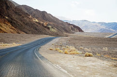 Empty road through Death Valley Stock Photo