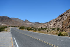 Empty road in Death Valley National Park, California Stock Photography