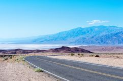 Road in Death Valley National Park, USA Royalty Free Stock Photos