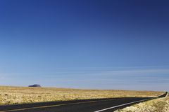 Empty road in desert USA Royalty Free Stock Photography