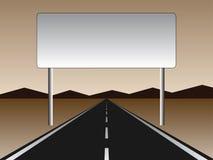 Empty road - empty billboard Stock Images