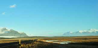Empty road in Iceland Stock Photography