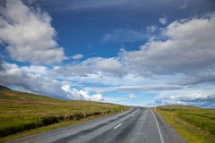 Empty road in iceland Royalty Free Stock Images
