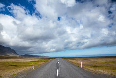Empty road in iceland Stock Image