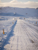 Empty road in Iceland Royalty Free Stock Photos