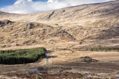 Empty Road Ireland 0008. Empty boreen road near Killarney and the Gap of Dunloe, County Kerry on the west coast of Ireland Royalty Free Stock Images