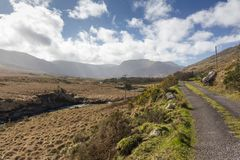 Empty Road Ireland 0009. Empty country road, County Kerry on the west coast of Ireland Stock Images