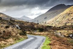 Empty Road Ireland 0003. Empty Road near the Gap of Dunloe in County Kerry On the west coast of Ireland Royalty Free Stock Images