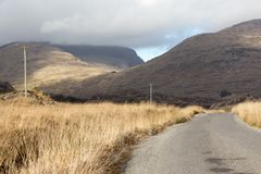 Empty Road Ireland 0001. Empty Road near the Gap of Dunloe in County Kerry On the west coast of Ireland Stock Photography