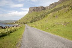 Empty Road; Isle of Mull Stock Images