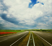 Empty road landscape Royalty Free Stock Photo