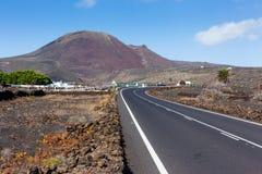 Empty road Lanzarote, Canary islands Stock Image