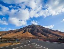 Empty road Lanzarote, Canary islands Stock Photography