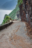 An empty road in Madeira island, Portuga Stock Photography