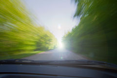 Empty road with motion blur Stock Images