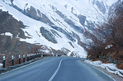 Empty road and mountains stock images