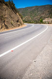 Empty road in the mountains Stock Image