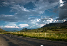 Empty Road  in mountains, Connemara, Ireland Royalty Free Stock Image