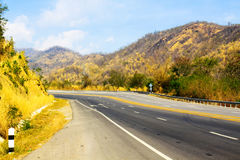 The empty road in the mountains. North of Thailand Stock Photos