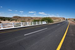 Empty road in Namibia royalty free stock images
