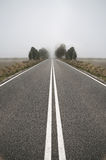 Empty road near the countryside Stock Image