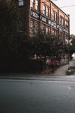 Empty Road Near Wafco Mills Building Royalty Free Stock Image