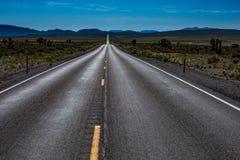 Empty Road Nevada Hwy 93 Royalty Free Stock Photos