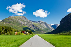 Empty road in Norway Stock Photos