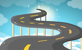 Empty road over the clouds Royalty Free Stock Image