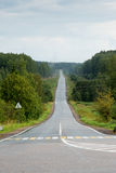 Empty Road Perspective Stock Image