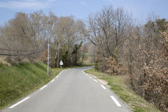 Empty Road on Provence; France. Europe Stock Photography