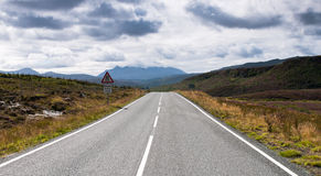 Empty road in Rural Landscape stock image