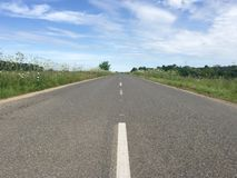 Empty road, Russia. Empty road in Moscow region, Russia Royalty Free Stock Image