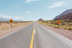 Empty road - Ruta 52 Royalty Free Stock Images