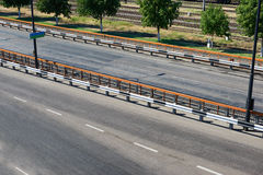 Empty road in seaport, cargo shipping and transportation concept Stock Photography