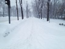 Empty road and sidewalk Stock Photos