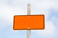 Empty road sign Stock Image