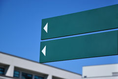 Empty road sign. In front of building Royalty Free Stock Image