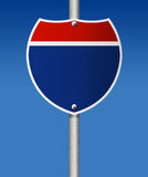 Empty road sign. Royalty Free Stock Image