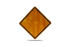 Empty road sign with clipping path. Grunge empty road sign with clipping path Stock Images
