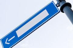Empty road sign with direction arrow Royalty Free Stock Photography