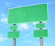 The empty road sign for indicate information Royalty Free Stock Photo