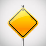 Empty road sign Stock Photography