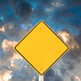 Empty road sign for your message Royalty Free Stock Images